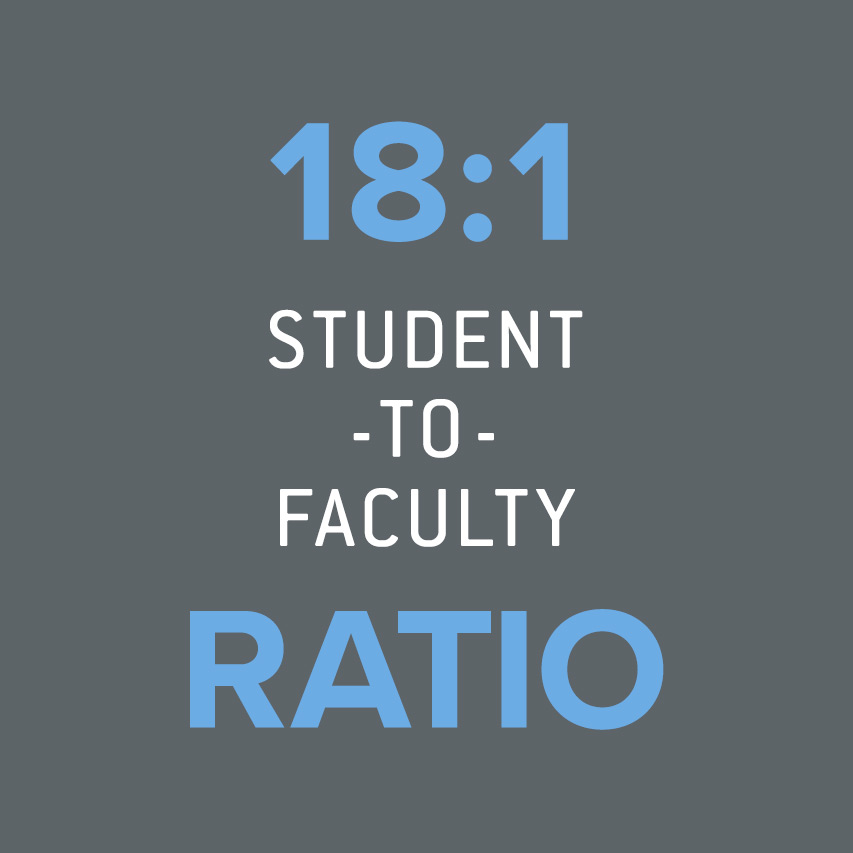 18:1 student-to-faculty ratio