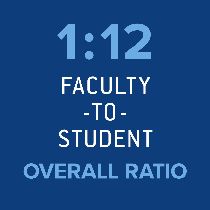1:12 Faculty-to-student overall ratio