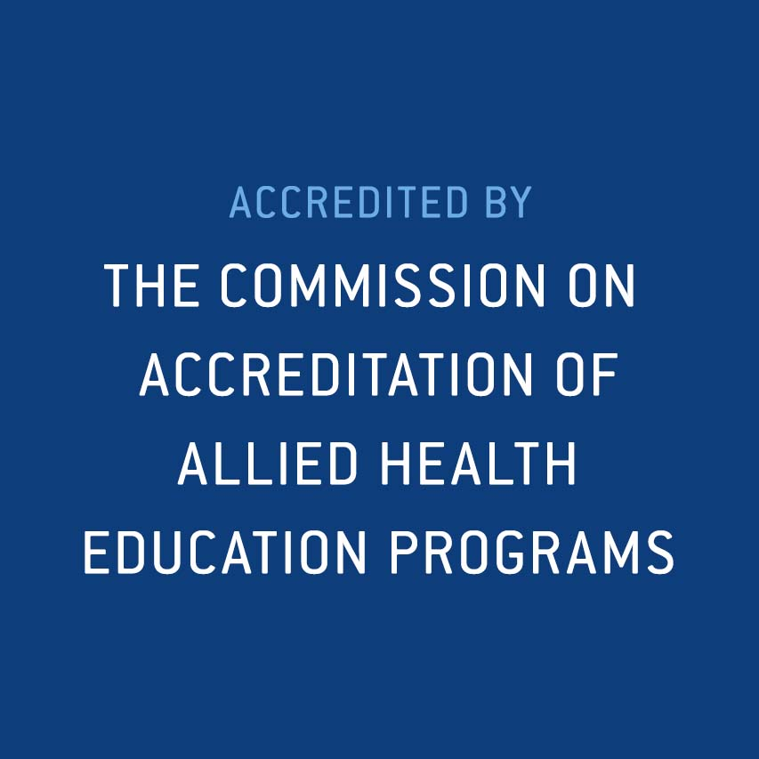 Accredited by the Commission on Accreditation of Allied Health Education Programs