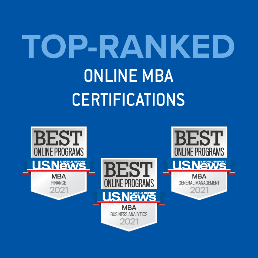 Top-ranked online MBA certifications