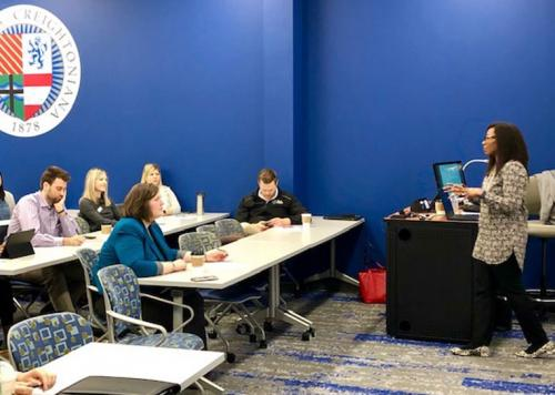 Members of Heider College of Business and the Greater Omaha Chamber of Commerce team up